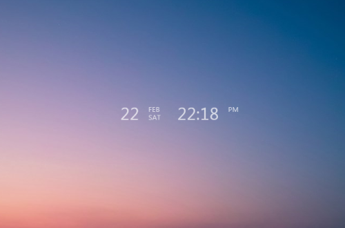 1-Line Clock Rainmeter