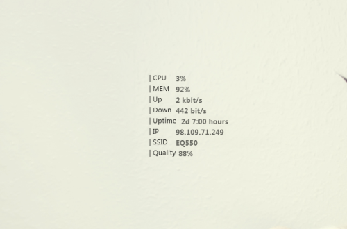 Minimalistic System Info Rainmeter Skin