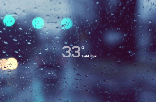 Simple Media Moxaweather Rainmeter Skin