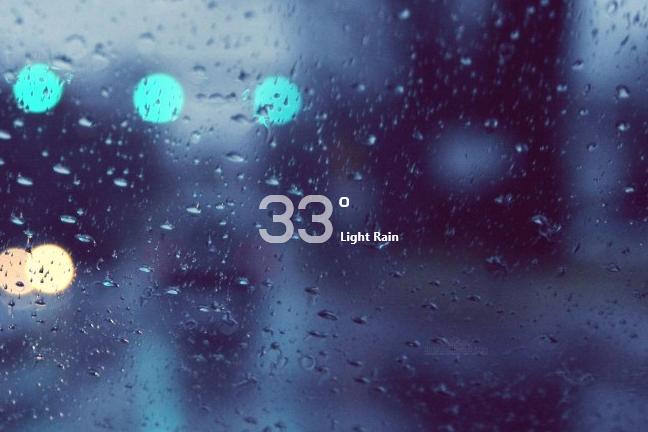 Simple Media Moxaweather Rainmeter Skin