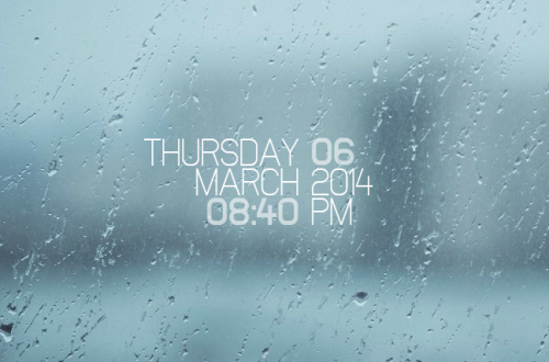 Simple Media DateTime Rainmeter Skin