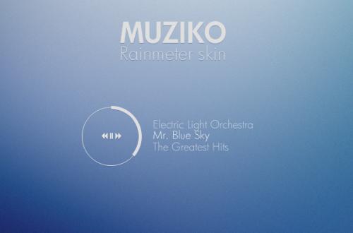 Muziko Rainmeter Skin