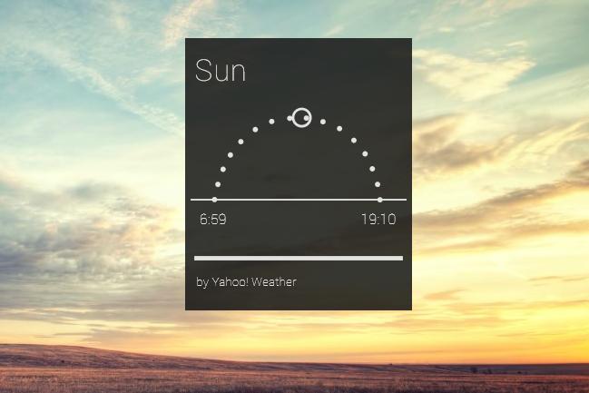 Sunrisesset Rainmeter Hub Skin