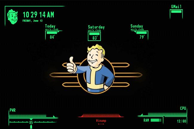 Fallout V.A.T.S Skin rainmeter